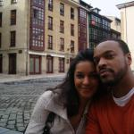 Óviedo, Spain with my beautiful wife.